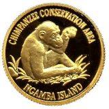 Chimpanzee – Uganda – 1999 – gold coin