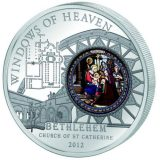 WINDOWS OF HEAVEN – St. Catherine's Bethlehem – Cook Islands – 2012 – 10 Dollars – silver coin