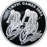 Cycling – Olympic Games 2004 – 100 Tenge – Kazakhstan – silver coin