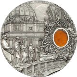 MINERAL ART – Saint Peters Basilica – Palau – 2013 – 10 Dollars – silver coin with amber