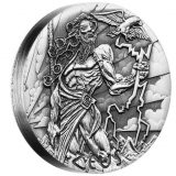 Gods of Olympus – Zeus – Tuvalu – 2014 – 2 Dollars – 2 oz silver coin