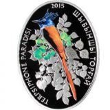 Terpsiphone paradisi – 500 Tenge – Kazakhstan – silver coin
