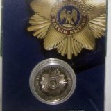 Star of Altyn Kyran insignia – 50 Tenge – Kazakhstan – nickel coin in blister