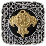Pendant – 500 Tenge – Kazakhstan – silver coin with gilding