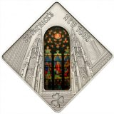 HOLY WINDOWS – St. Patrick's Cathedral – Palau – 2011 – 10 Dollars – silver coin