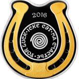 Horseshoe – lucky coin – 100 Tenge – Kazakhstan – silver coin
