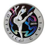 Rhythmic Gymnastics – Olympic Games 2016 – 100 Tenge – Kazakhstan – silver coin with pad printnig