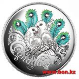 Celebration of Love: Two Doves – 2016 – Canada – 20 Dollars – silver coin with Swarovski Crystals