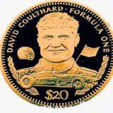 Formula-1: David Coulthard – Liberia – 1992 – gold coin