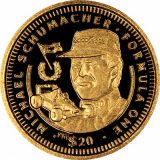 Formula-1: Michael Schumacher – Liberia – 1992 – gold coin
