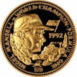 Formula-1: Nigel Mansell – Liberia – 1992 – gold coin