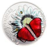Cymothoe Hobarti 3D Butterfly – Tanzania – 1000 Shilings – 2016 – silver coin