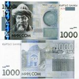 Kyrgyzstan – 1000 Som – 2011 – Replacement (BZ series) – banknote