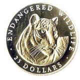Tiger – Cook Islands – 1990 – gold coin
