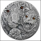 Wildlife Family: Tigers – Niue – 2013 – 1 Dollar – silver coin with crystals