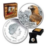 Tasmanian Wedge-Tailed Eagle – Tuvalu – 2012 – 1 Dollar – coloured silver coin