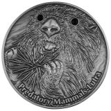 PREDATORY MAMMALS: Lutra – Fiji – 2012 – 10 Dollars – silver coin with Crystals