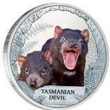 Tasmanian Devil – Tuvalu – 2013 – 1 Dollar – coloured silver coin