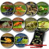 Colourful Amphibians – Cook Islands – 2000 (2014) – 5 Cents – set of 10 nickel coins