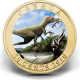 Dinosaures: Sinosauropteryx – 2010 – Canada – 50 Cents – coin with hologram