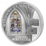 WINDOWS OF HEAVEN – Seville Cathedral – Cook Islands – 2011 – 10 Dollars – silver coin