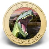 Dinosaures: Albertosaurus – 2010 – Canada – 50 Cents – coin with hologram