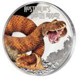 Australia's Death Adder – Tuvalu – 2016 – 1 Dollar – coloured silver coin