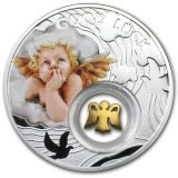 Symbols of Luck: Angel – Niue – 2014 – 1 Dollar – silver coin with gilding