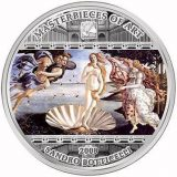 Masterpieces of Art – Birth of Venus (Sandro Botticelli) – Cook Islands – 2008 – 20 Dollars – 3 oz silver coin
