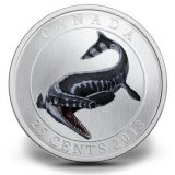 Prehistoric Creatures: Tylosaurus – 2013 – Canada – 25 Cents – nickel coin (glow in the dark)