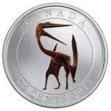 Prehistoric Creatures: Quetzalcoatlus – 2013 – Canada – 25 Cents – nickel coin (glow in the dark)