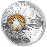 WINDOWS OF HISTORY – 100th Anniversary of the Titanic – Cook Islands – 2012 – 10 Dollars – silver coin