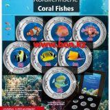 Coral Fishes 1 – Cook Islands – 2000 (2014) – 35 Cents – set of 7 nickel coins