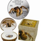 Giant Coconut Crab – 2013 – Pitcairn Island – 2 Dollars – silver coin with coconut aroma
