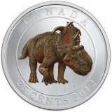 Prehistoric Creatures: Pachyrhinosaurus – 2012 – Canada – 25 Cents – nickel coin (glow in the dark)