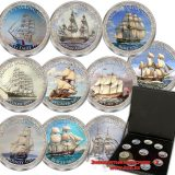 Famous Sailing Ships 2 – East Caribbean States – 25 Cents – set of 10 nickel coins