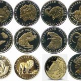 Endagered Wildlife – Cook Islands – 1990-1992 – 25 Dollars – set of 12 gold coins