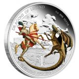 Dragons of Legend: St George and the Dragon – Tuvalu – 2012 – 1 Dollar – coloured silver coin