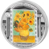 Masterpieces of Art – Sunflowers (Vincent van Gogh) – Cook Islands – 2010 – 20 Dollars – 3 oz silver coin
