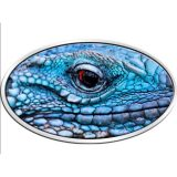 Blue Iguana – Niue – 2012 – 2 Dollars – XL ultra high relief silver coin