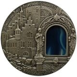 Crystal Art: Secrets of Lichtenstein – Niue – 2013 – 2 Dollars – 2 oz silver coin with agate