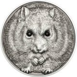 Camplell's Hamster – 500 Togrog – 2015 – Mongolia – silver coin with crystals