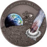 Lunar Meteorite NWA 5000 – Niue – 2015 – 1 Dollar – silver coin with real meteorite