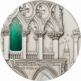 TIFFANY ART: Venetian Gothic – Palau – 2013 – 10 Dollars – silver coin with tiffany glass