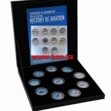 History of Aviation (planes) – Canada – 25 Cents – set of 10 nickel coins
