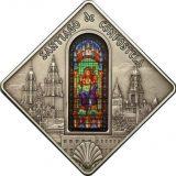 HOLY WINDOWS – Santiago de Compostela – Palau – 2011 – 10 Dollars – silver coin