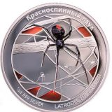 Redback Spider – Tuvalu – 2011 – 1 Dollar – coloured silver coin