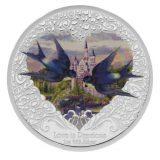 Love is Precious: Swallows – Niue – 2013 – 2 Dollars – coloured silver coin