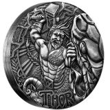 Norse Gods – Thor – Tuvalu – 2016 – 2 Dollars – 2 oz silver coin