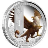 Mythical Creatures: Griffin – Tuvalu – 2013 – 1 Dollar – coloured silver coin